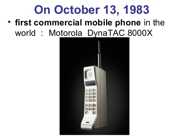 1983 First commercial mobile